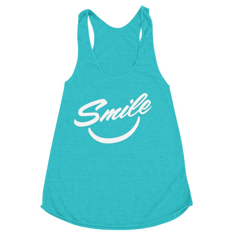 Smile Women's Racerback Triblend Tank by toast designs