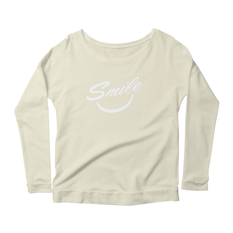 Smile Women's Scoop Neck Longsleeve T-Shirt by toast designs