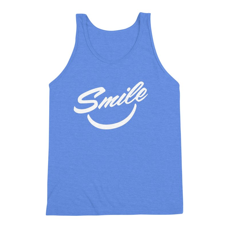 Smile Men's Triblend Tank by toast designs