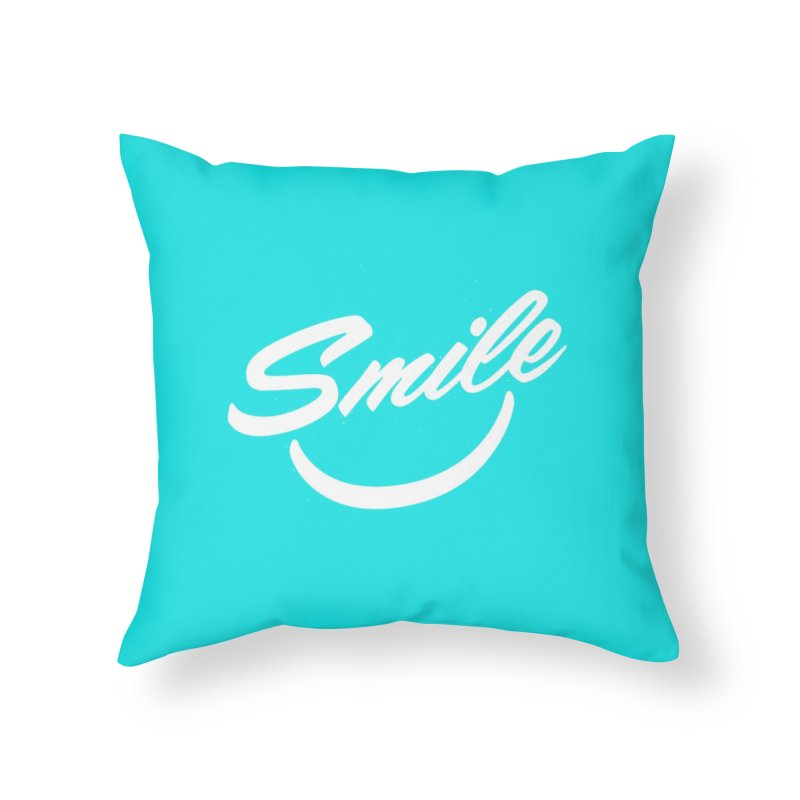 Smile Home Throw Pillow by toast designs