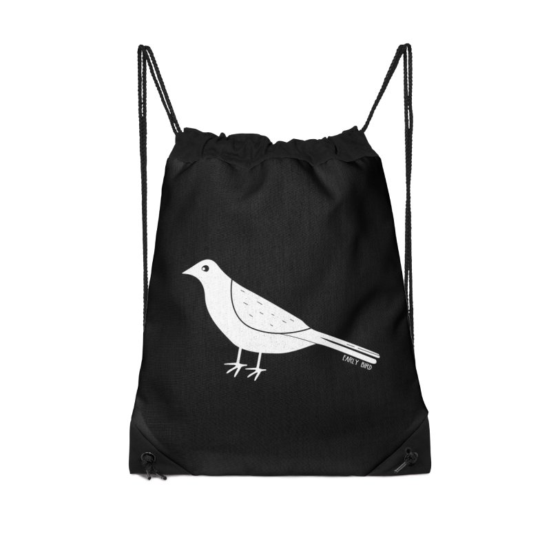 Early Bird Accessories Drawstring Bag Bag by toast designs