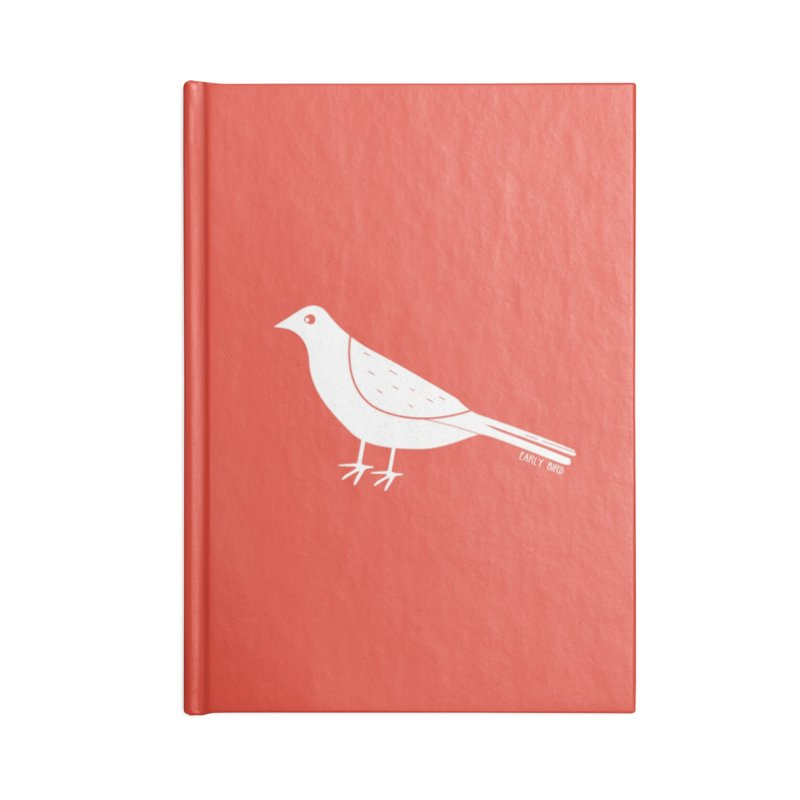 Early Bird Accessories Blank Journal Notebook by toast designs