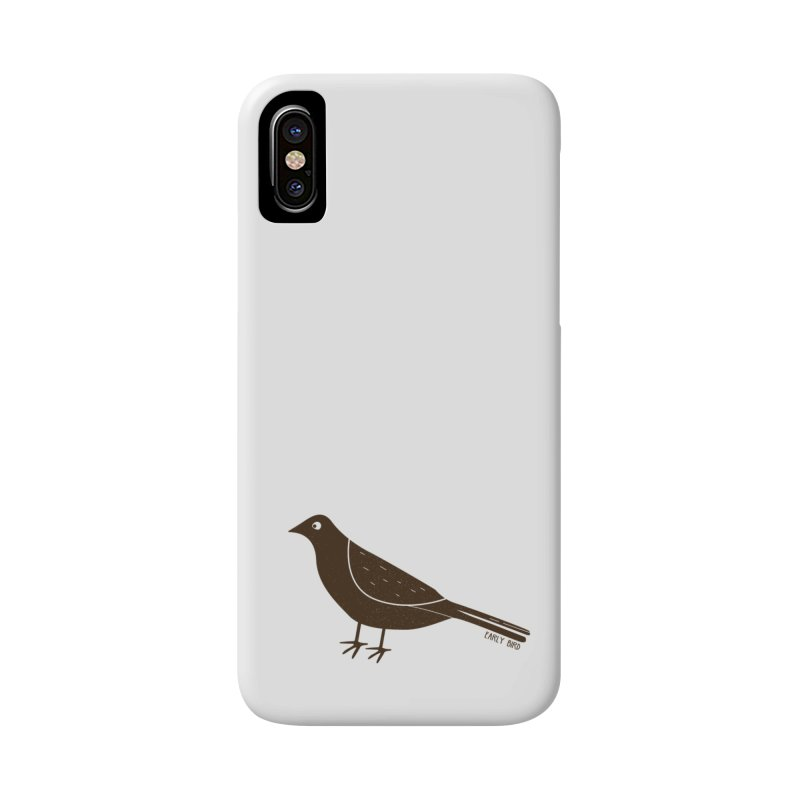 Early Bird in iPhone X Phone Case Slim by toast designs