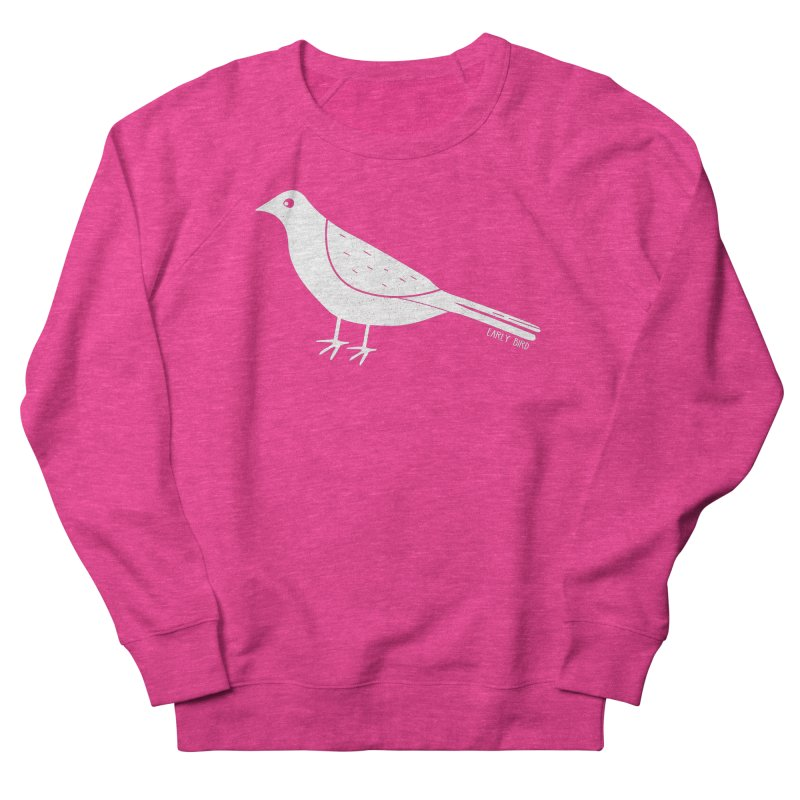 Early Bird in Women's French Terry Sweatshirt Heather Heliconia by toast designs
