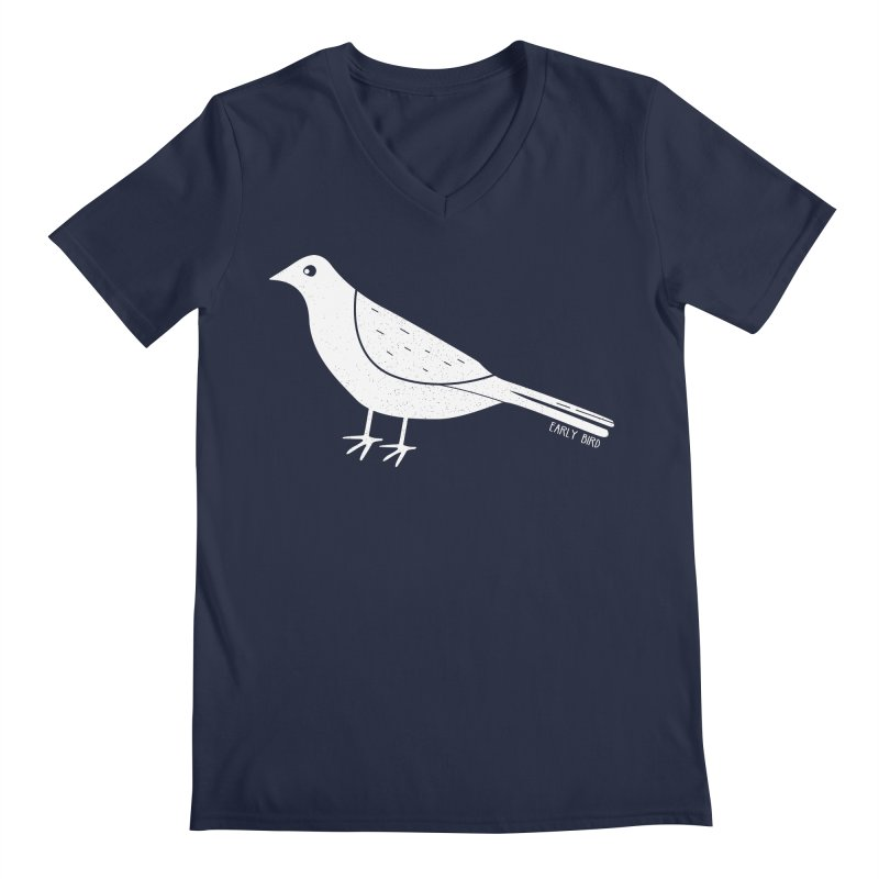 Early Bird Men's Regular V-Neck by toast designs