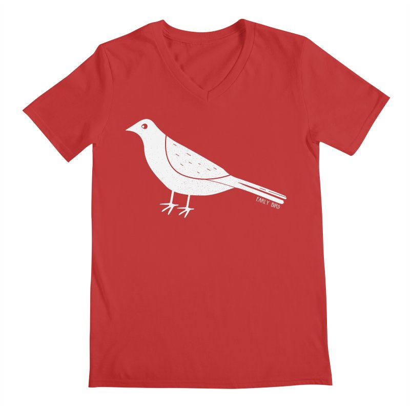 Early Bird Men's V-Neck by toast designs