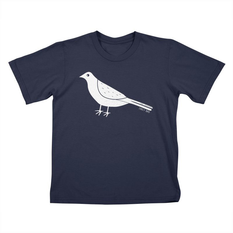 Early Bird in Kids T-Shirt Navy by toast designs