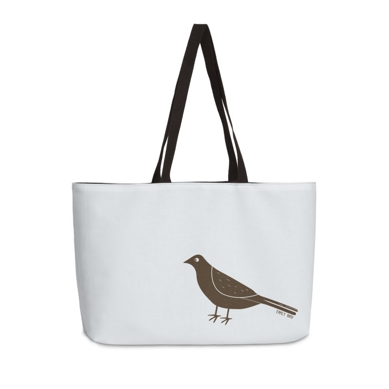 Early Bird Accessories Weekender Bag Bag by toast designs