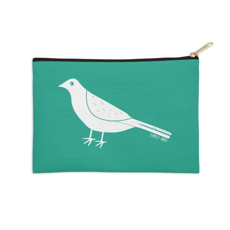 Early Bird Accessories Zip Pouch by toast designs