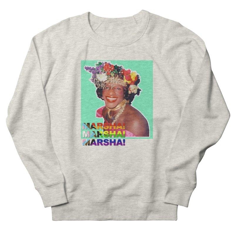 Marsha! in Men's French Terry Sweatshirt Heather Oatmeal by Toban Nichols Studio