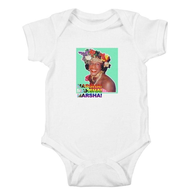Marsha! Kids Baby Bodysuit by Toban Nichols Studio