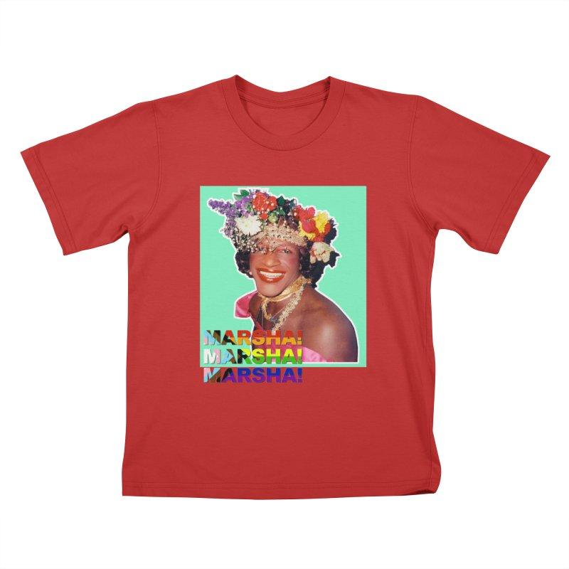 Marsha! Kids T-Shirt by Toban Nichols Studio