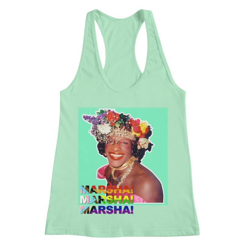 Marsha! Women's Racerback Tank by Toban Nichols Studio
