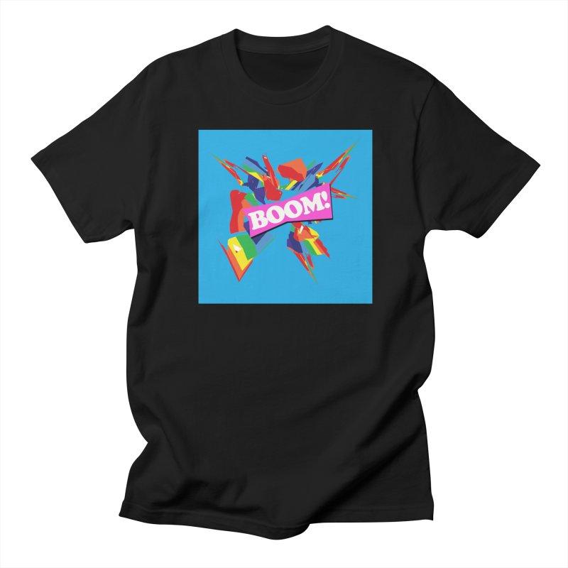 BOOM! in Men's Regular T-Shirt Black by Toban Nichols Studio