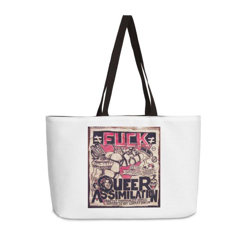 Queer Assimilation Accessories Weekender Bag Bag by Toban Nichols Studio