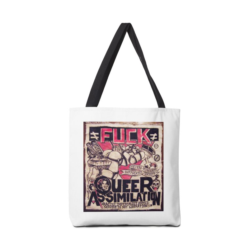 Queer Assimilation Accessories Tote Bag Bag by Toban Nichols Studio