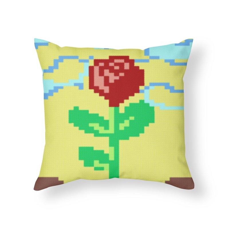 Rose Home Throw Pillow by Toban Nichols Studio