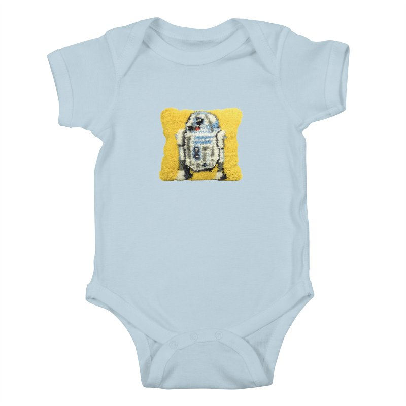 R2Fuzz Kids Baby Bodysuit by Toban Nichols Studio