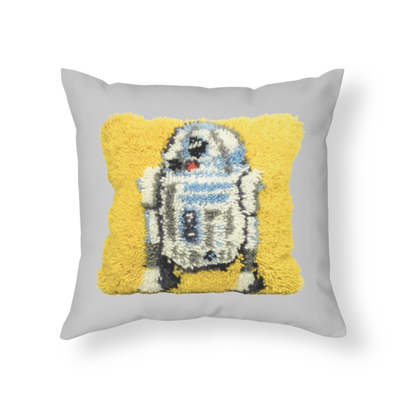 R2Fuzz Home Throw Pillow by Toban Nichols Studio