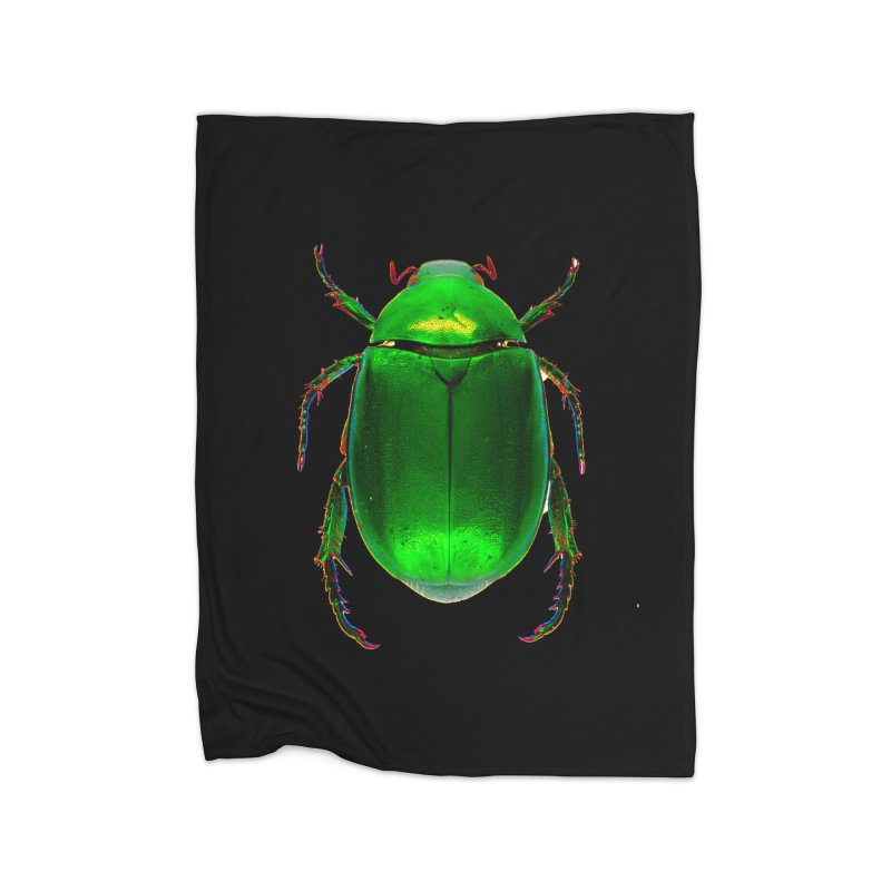 Scarab Beetle Home Fleece Blanket Blanket by Toban Nichols Studio