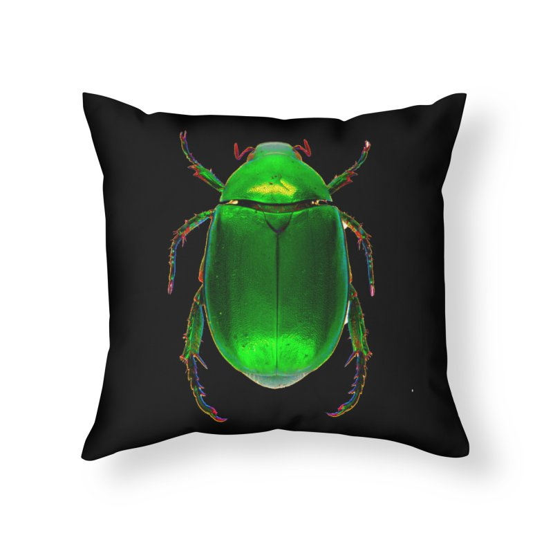 Scarab Beetle Home Throw Pillow by Toban Nichols Studio