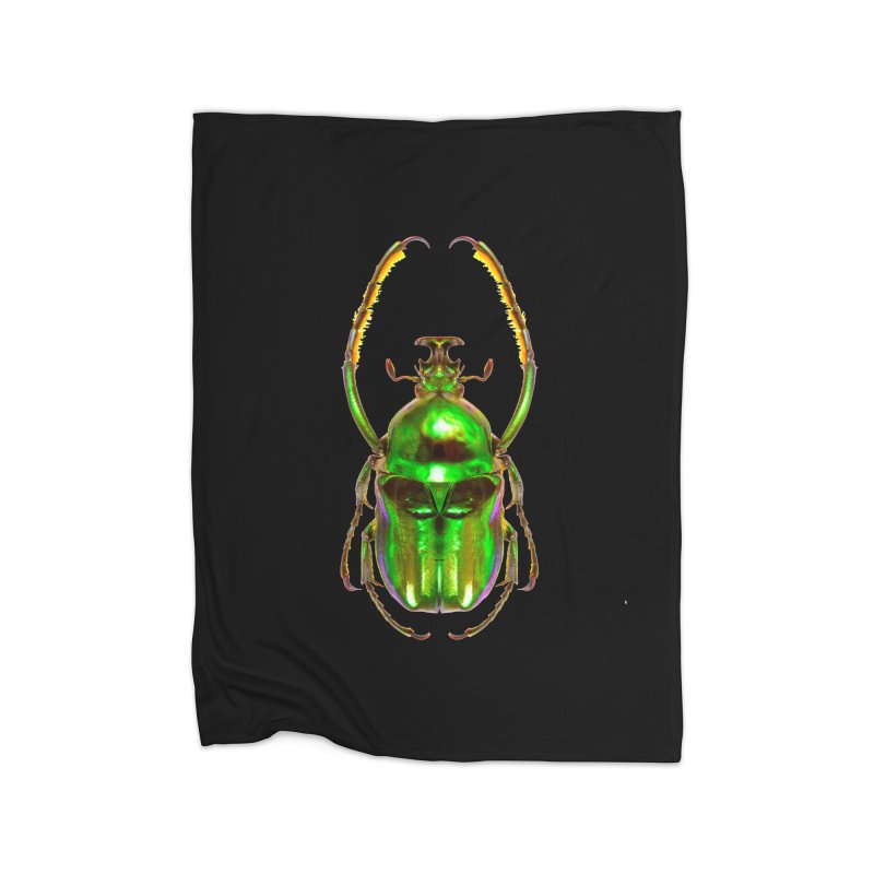 Ischnoscelis Dohrni Beetle Home Fleece Blanket Blanket by Toban Nichols Studio