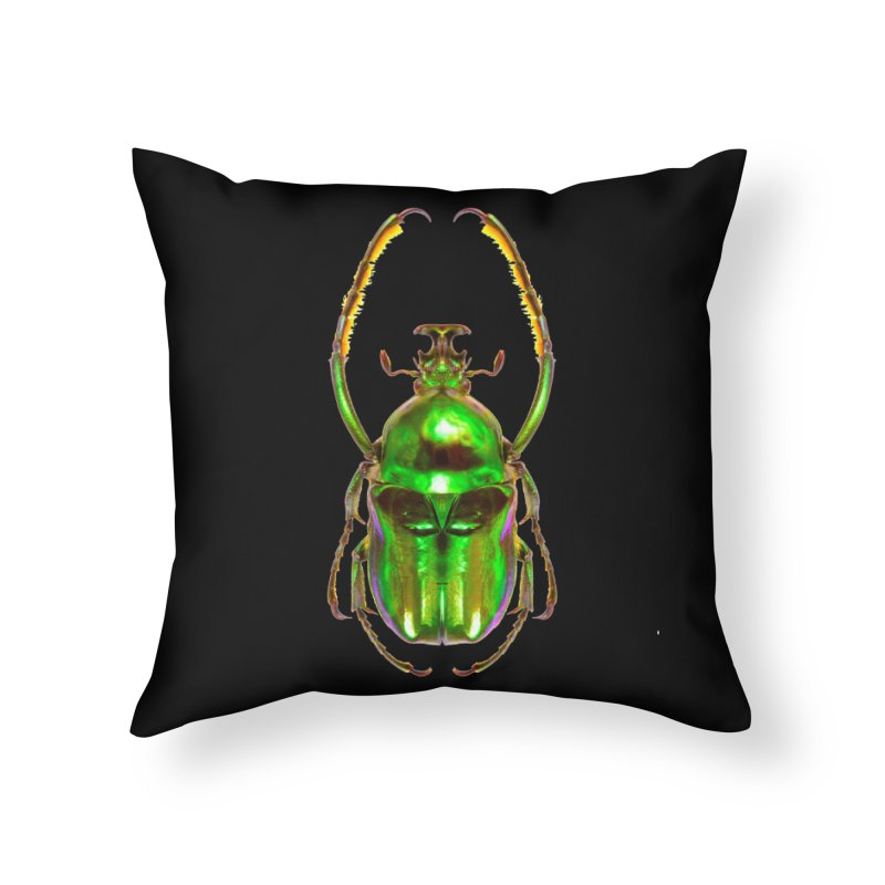 Ischnoscelis Dohrni Beetle Home Throw Pillow by Toban Nichols Studio