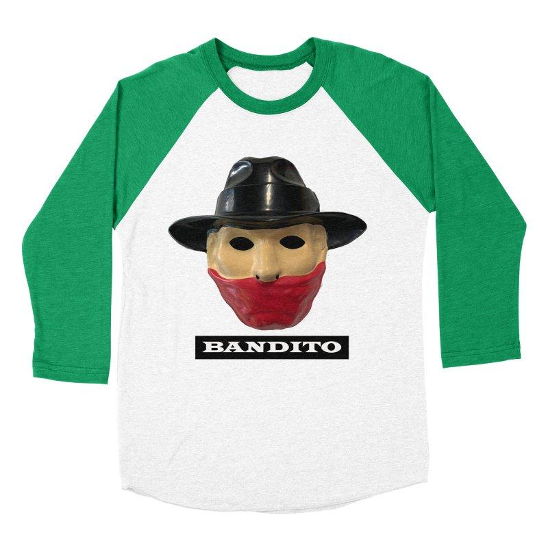 Bandito Men's Baseball Triblend Longsleeve T-Shirt by Toban Nichols Studio