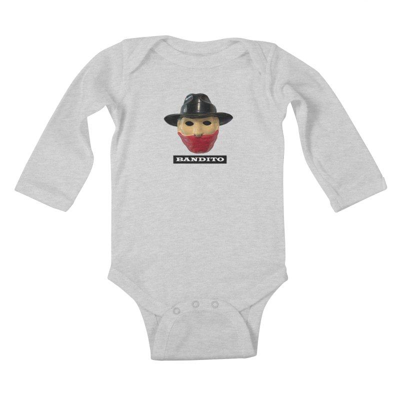 Bandito Kids Baby Longsleeve Bodysuit by Toban Nichols Studio