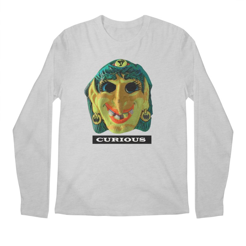 Curious Men's Regular Longsleeve T-Shirt by Toban Nichols Studio