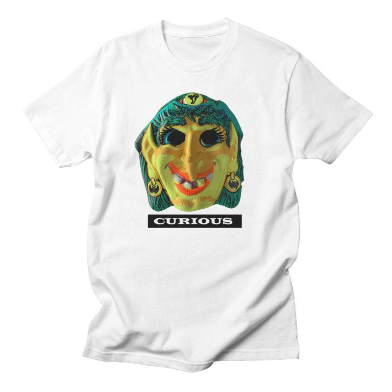 Curious in Men's Regular T-Shirt White by Toban Nichols Studio