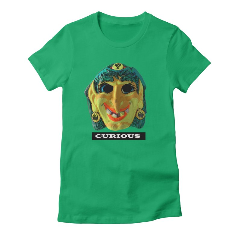 Curious Women's Fitted T-Shirt by Toban Nichols Studio