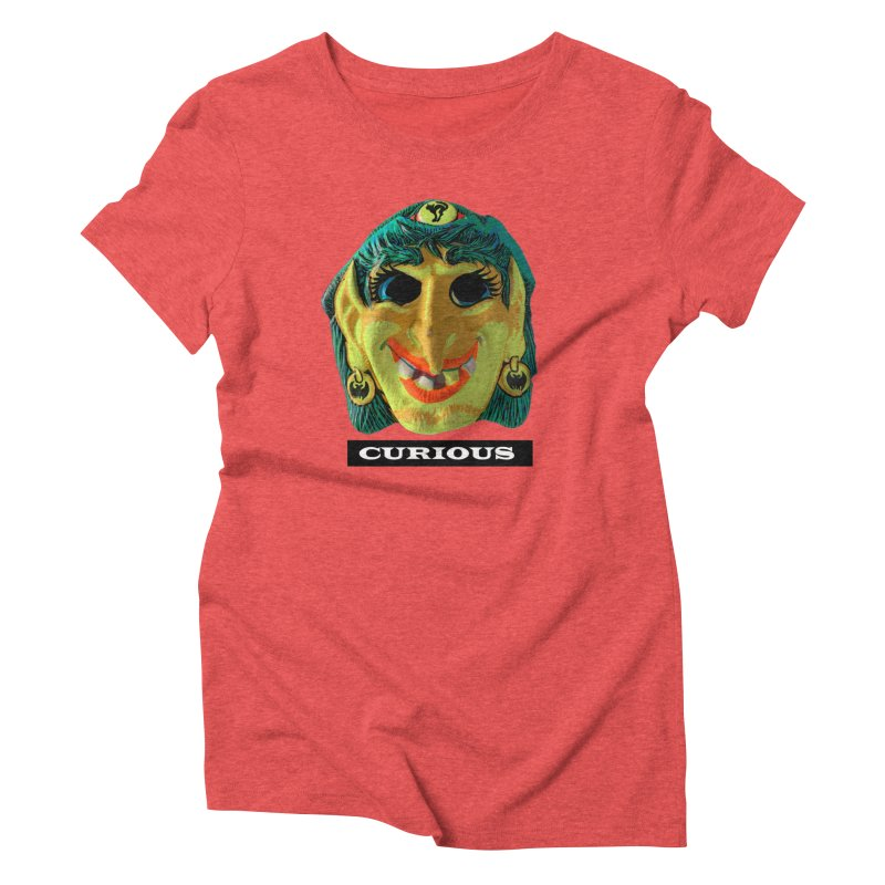 Curious in Women's Triblend T-Shirt Chili Red by Toban Nichols Studio