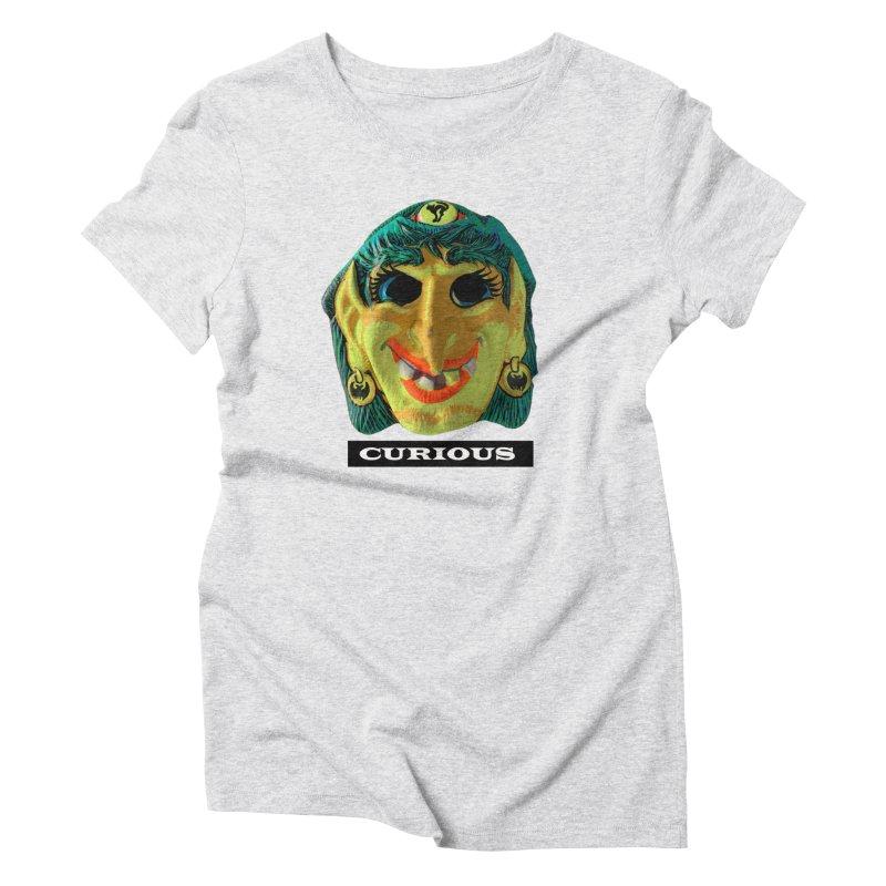 Curious Women's Triblend T-Shirt by Toban Nichols Studio