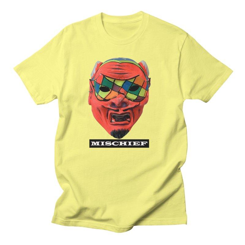 Mischief in Men's Regular T-Shirt Lemon by Toban Nichols Studio