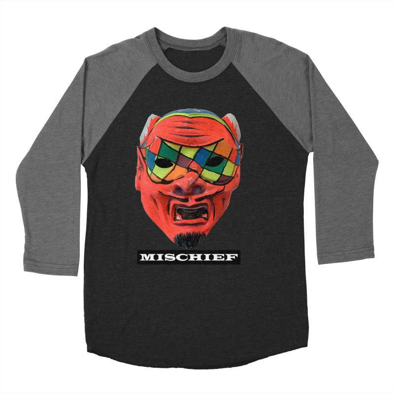 Mischief Women's Baseball Triblend Longsleeve T-Shirt by Toban Nichols Studio