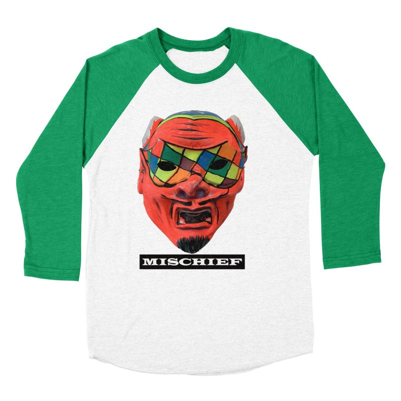 Mischief Men's Baseball Triblend Longsleeve T-Shirt by Toban Nichols Studio