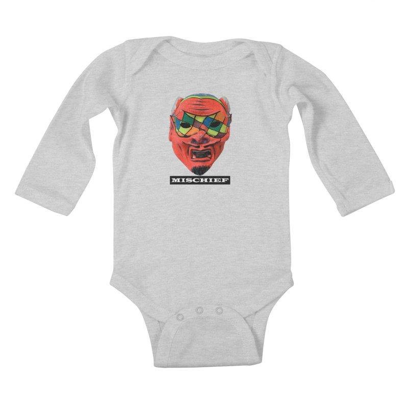 Mischief Kids Baby Longsleeve Bodysuit by Toban Nichols Studio