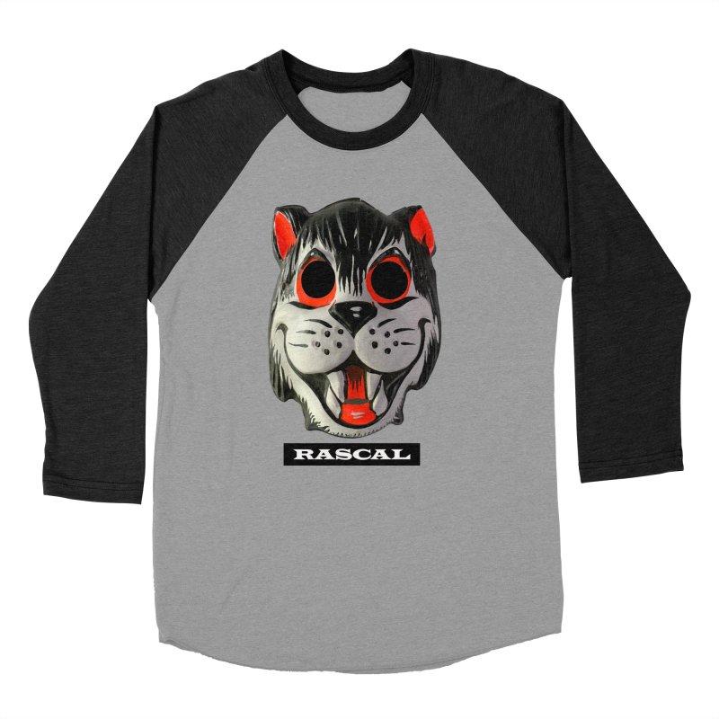 Rascal in Women's Baseball Triblend Longsleeve T-Shirt Heather Onyx Sleeves by Toban Nichols Studio