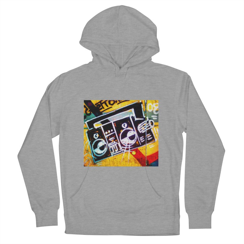 Blaster  Women's French Terry Pullover Hoody by Toban Nichols Studio