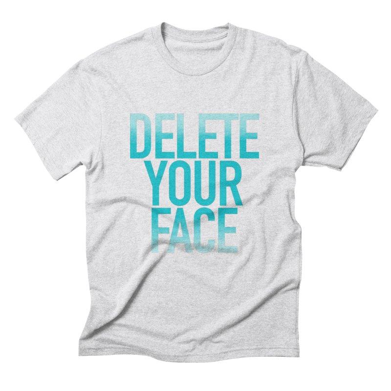 Delete Your Face Men's Triblend T-Shirt by Toban Nichols Studio