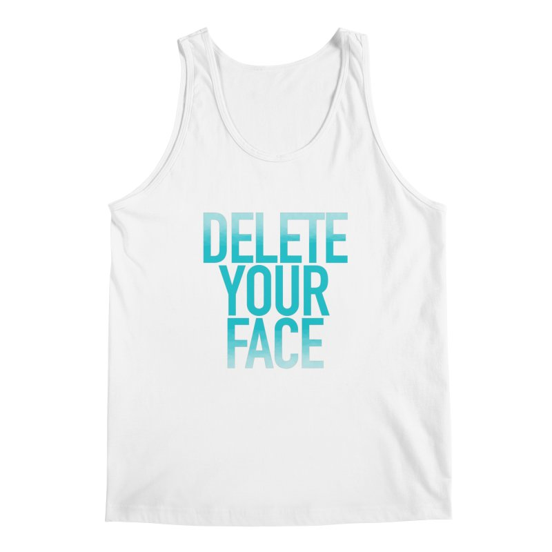 Delete Your Face Men's Regular Tank by Toban Nichols Studio