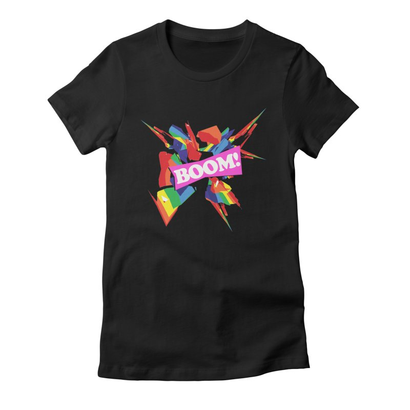 BOOM! (no blue) Women's Fitted T-Shirt by Toban Nichols Studio