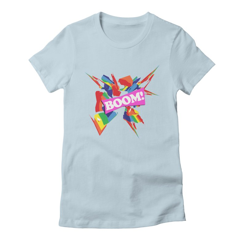 BOOM! (no blue) Women's Fitted T-Shirt by Toban Nichols Studio