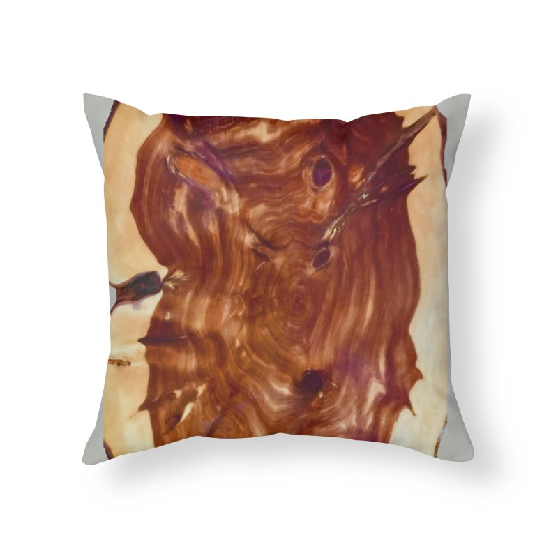 Middle Wood Home Throw Pillow by Toban Nichols Studio