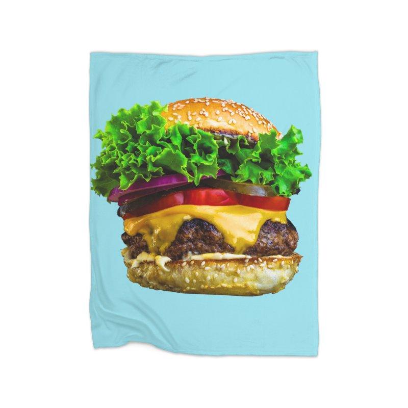 Burgershirt Home Fleece Blanket Blanket by Toban Nichols Studio