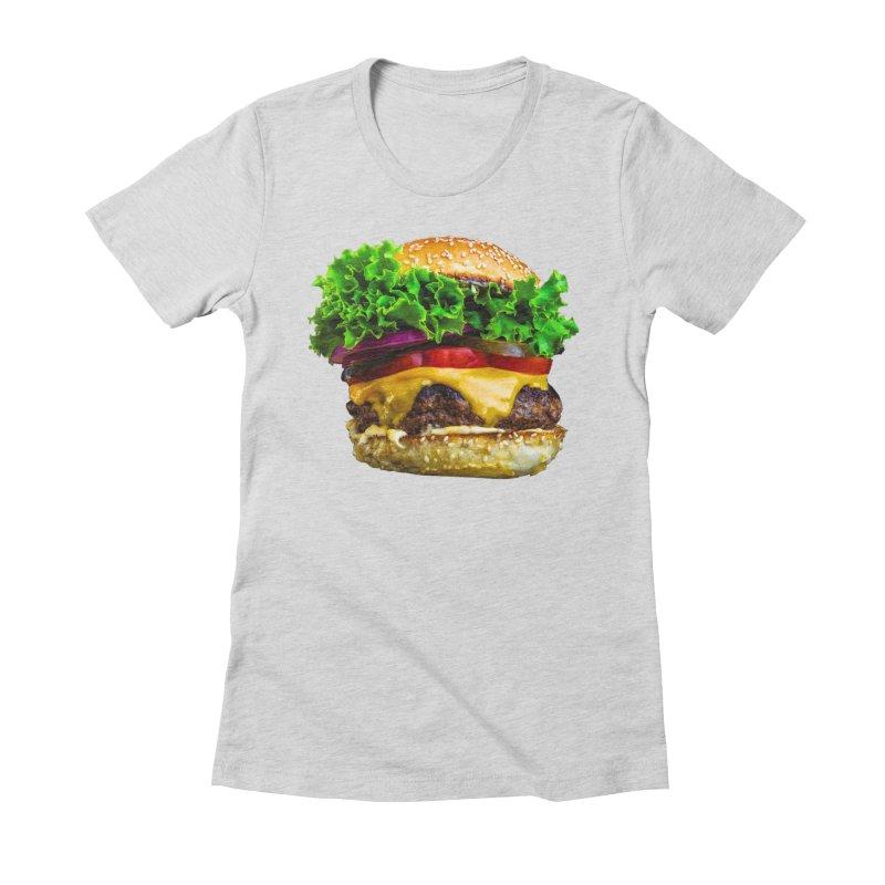 Burgershirt Women's Fitted T-Shirt by Toban Nichols Studio