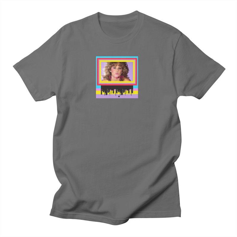 Linda  Blair Men's Regular T-Shirt by Toban Nichols Studio