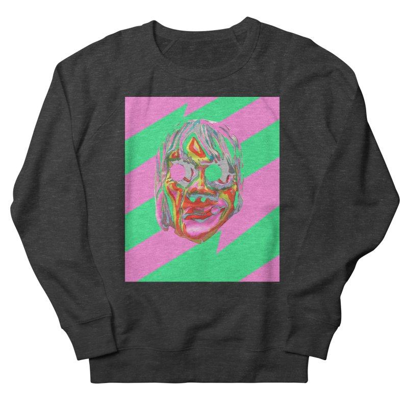 Zombiface Men's French Terry Sweatshirt by Toban Nichols Studio