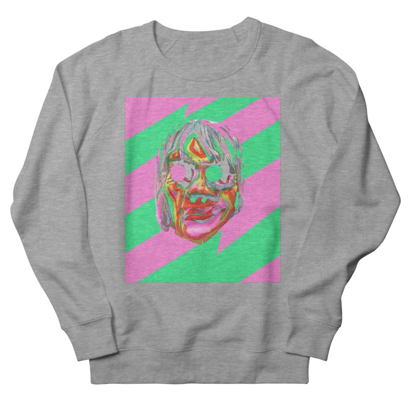 Zombiface Men's French Terry Sweatshirt by Toban Nichols Studio